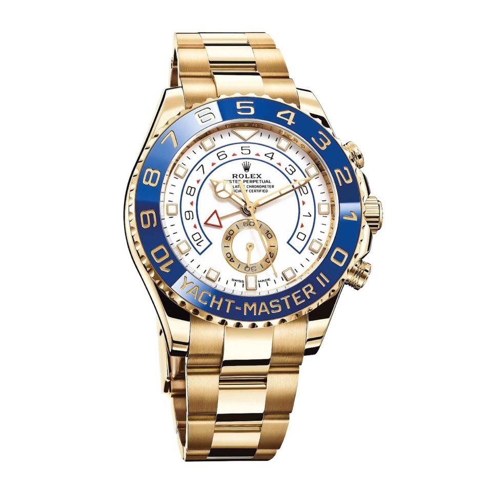 1560a73fd33 Rolex Yacht Masters II  Este modelo de oro significa un reloj diario del actor  estadounidense. Se trata de un modelo bastante llamativo